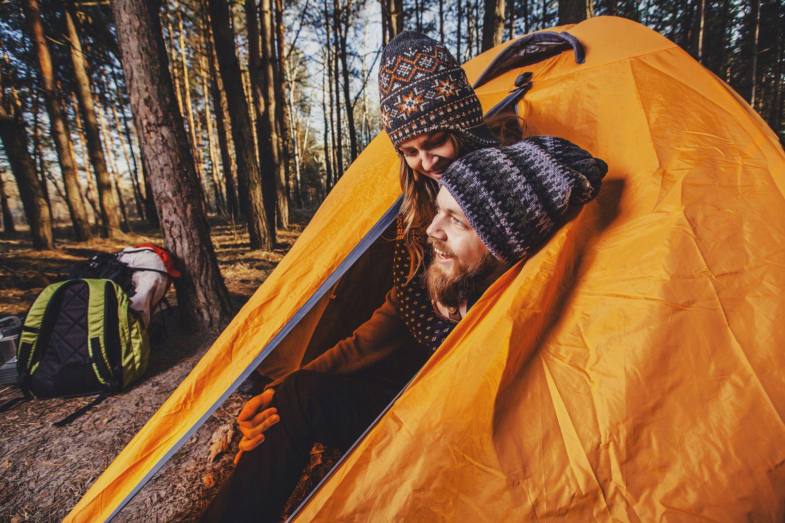 Campeggio autunno in Tenda